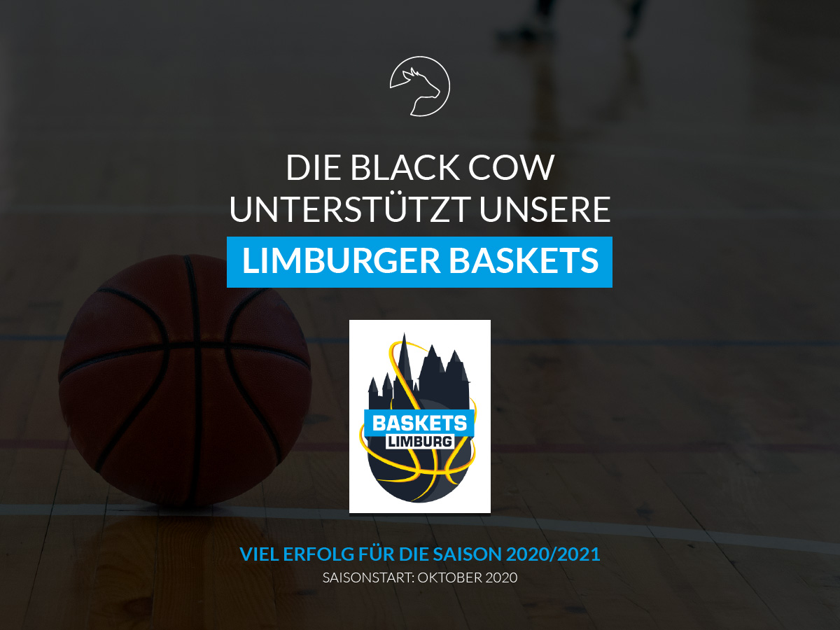 Black Cow ist Sponsor der Limburger Baskets